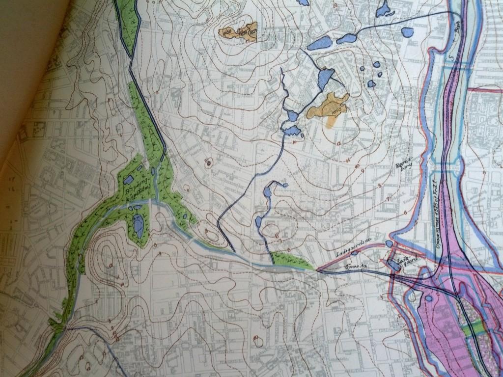 Historisk vandkort 1955 kobenhavns kommune